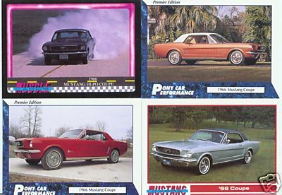 1966 66 FORD MUSTANG COUPE COLLECTOR CARDS NICE