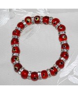 Red Round Evil Eye Bead Bracelet - $12.95