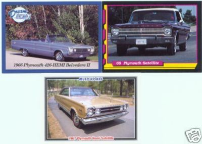 1965 1966 1967 PLYMOUTH SATELLITE BELVEDERE COLLECTIBLE