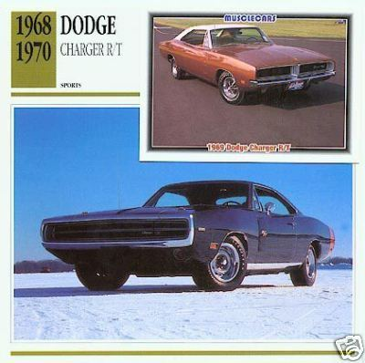 1970 70 DODGE CHARGER R/T RT MOPAR COLLECTOR CARD