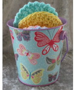 Bucket of Hand Crafted Facial Scrubbie Make Up Removers - $14.95