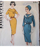 Butterick 9134 Vintage 60s Bodice Dress Pencil Skirt Pattern - $12.95