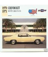 1971 71 CHEVY CHEVROLET MONTE CARLO SS 454 COLLECTIBLE - $7.50