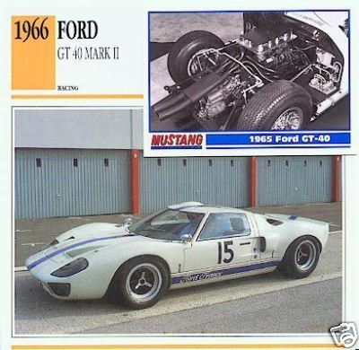 1966 66 FORD GT 40 MARK II 1965 GT-40 COLLECTIBLE NICE