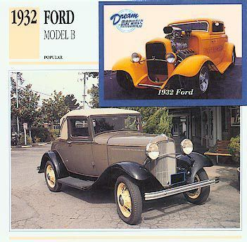 1932 32 FORD MODEL B COLLECTOR CUSTOM