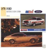 1978 78 FORD MUSTANG II KING COBRA COLLECTOR - $7.50