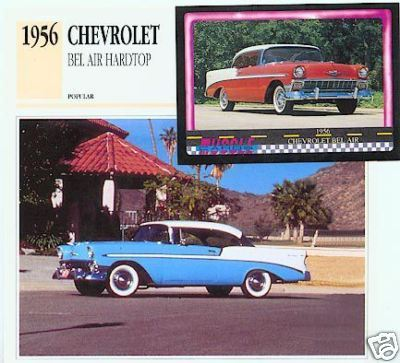 1956 56 CHEVROLET CHEVY BEL AIR HARDTOP COLLECTIBLE