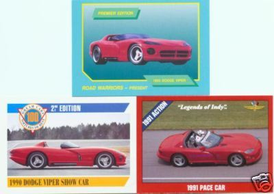 1990 90 1991 1992 DODGE VIPER INDY 500 PACE COLLECTIBLE