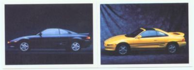1991 91 TOYOTA MR2 COLLECTOR CAR CARDS