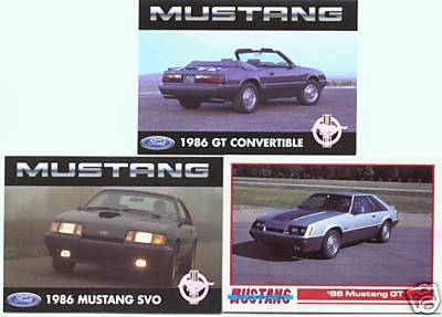 1986 86 FORD MUSTANG SVO GT COLLECTOR COLLECTIBLE