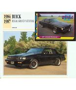 1984 84 1987 87 BUICK REGAL GRAND NATIONAL GN COLLECTOR - $13.25