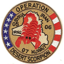 US Army Operation Desert Scorpion Patch Red 3.88'' x 3.88'' - $13.85
