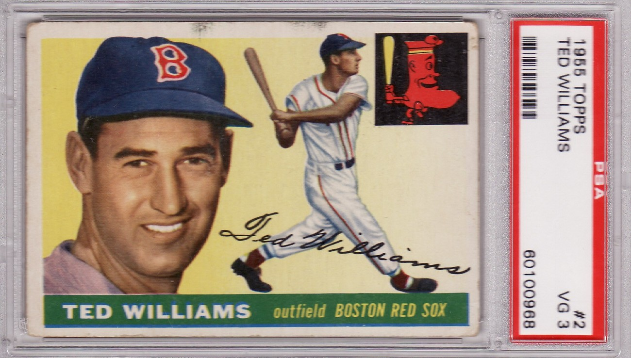 Ted williams 1955 topps  2 psa 3 vg