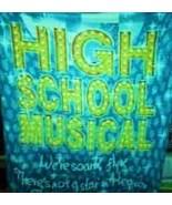 DISNEY HIGH SCHOOL MUSICAL THROW BLANKET 55 X 60 - $9.99