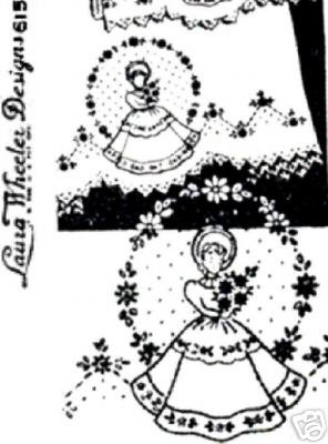 Southern Belle Girl transfer embroidery LW615
