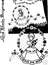 Southern Belle Girl transfer embroidery LW615 - $5.00