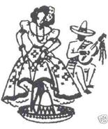 1940s Mexican Lady DOW towel transfer embroidery mo2546 - $5.00