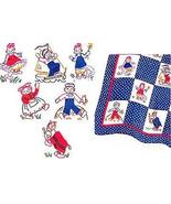 Raggedy Ann with Andy + Belinda 1943 Quilt Pattern transfer - $6.00