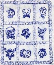 Vintage Baby Animals appliqued Crib Quilt transfer pattern m - $5.00