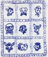 Vintage Baby Animals appliqued Crib Quilt transfer pattern m - $5.00