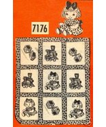 Vintage Crib Quilt with DOLLS & TOYS transfer pattern mo7176 - $6.00