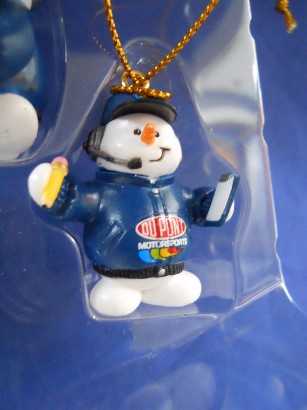 2005 Nascar 24 Jeff Gordon Snowman Pit Crew Christmas Mini Ornaments