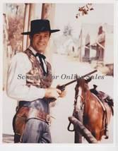 Hugh O'Brien Wyatt Earp with Gun and Horse 8x10 Photo - $6.99