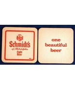 15 Schmidts of Philadelphia Light Beer Coasters One Beautiful Beer Red S... - $7.00