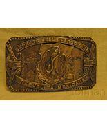 Express Wells Fargo Y CIA Republica Mexicana brass belt buckle - $19.00