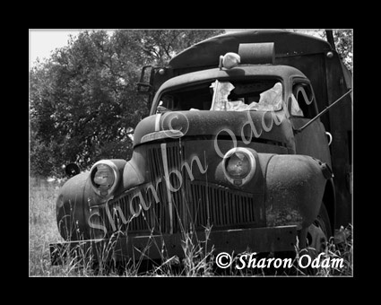 Ms 0054 bw old truck