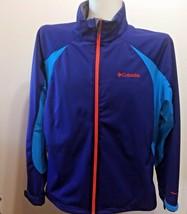 Columbia Mens Jacket XL Omni-Heat Tectonic Softshell Omni Wind Wicking Blue - $52.83