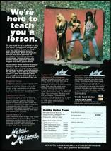 Doug Marks Michael Angelo Jim Gillette Metal Method Guitar Lessons 1992 ad print - $4.28