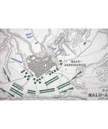 1848 Fine Quality Map - RUSSIA Maloyaroslavets &Environs + 1812 Battle K... - $12.15