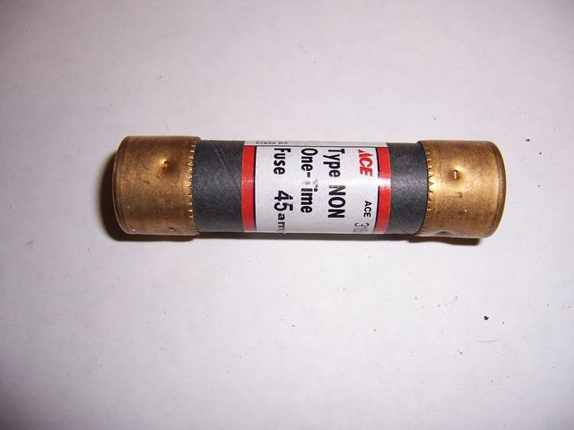 NON-45 cartridge fuse 45 amp 250 volt 2 per pack