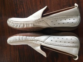 TIMBERLAND Smart Comfort Driving Loafers Moc BONE Leather 97527 SIZE 8.5 M - $28.66