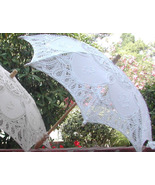 Small embroidered Battenberg Lace parasol - Photo prop - $19.99
