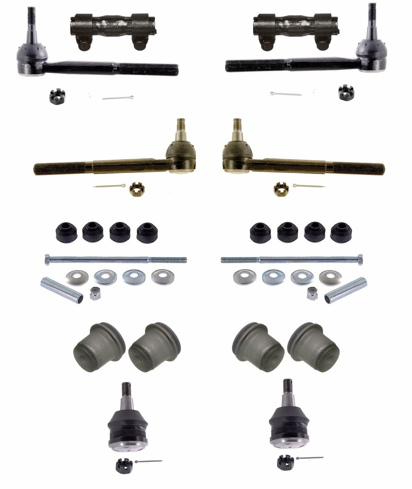 Chevy 2500 12 Piece Tie Rod Ball Joint + More  Front End Kit 1993-00 7200 lb GVW - $88.49