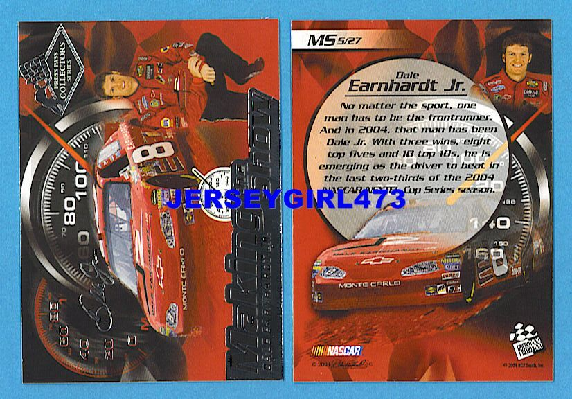 Dale Earnhardt Jr. 2004 Press Pass Making the Show NASCAR Racing Insert Card