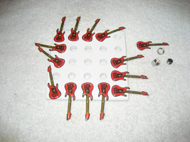13 COORS LIGHT BEER LIGHTED GUITAR MAGNETS 2 1/2'' LONG RARE - £71.96 GBP