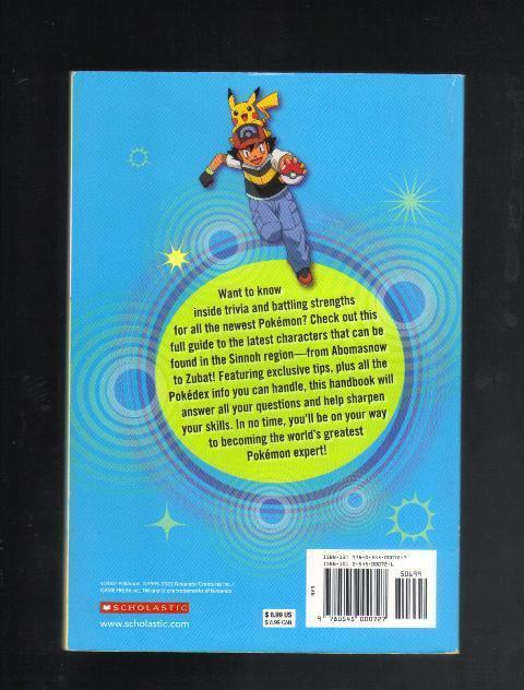 PokeMon Sinnoh Handbook, Softcover Book, 2007, Collectible