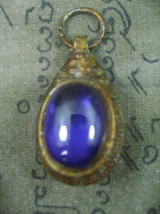 HOLY BLESSED VINTAGE SOMDET TOH WITH PURPLE NAGA EYE TOP RARE THAI BUDDH... - $19.99