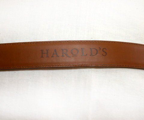 Harold's Brown Leather Belt Silver Buckle Conchos Size 38