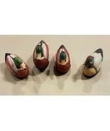 Lot of 4 VTG Jasco Mallard Duck Porcelain Lint Remover Brush 1980's Coll... - $45.00
