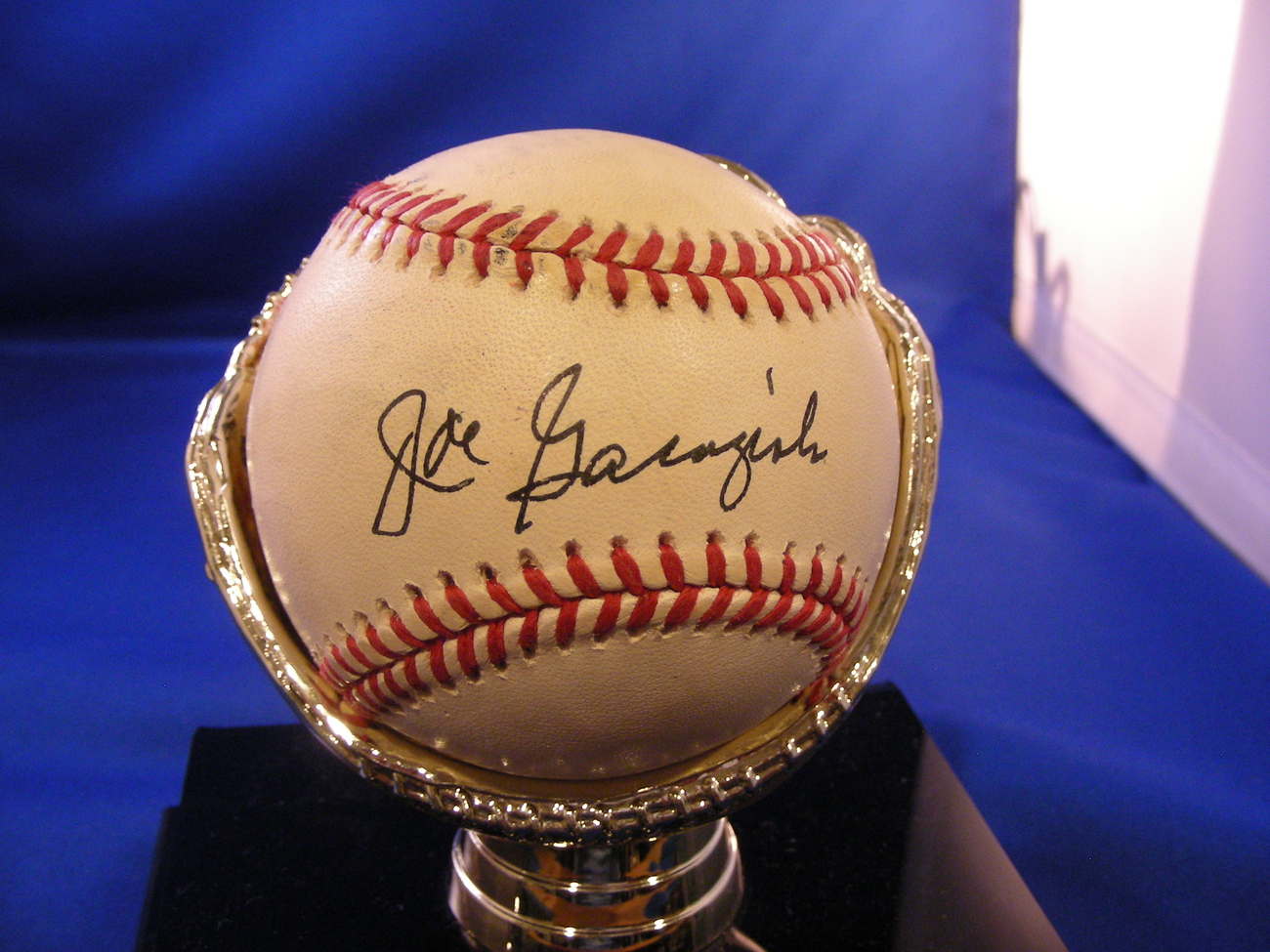 Primary image for JOE GARAGIOLA 1991 FORD FRICK AWARD 1946 WSC CARDS SIGNED GAME USED BALL PSA/DNA