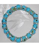 Light Blue Evil Eye Bead Bracelet - $12.95