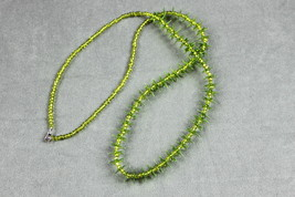 Long Beaded Necklace Acid Green Attitude  - $15.00
