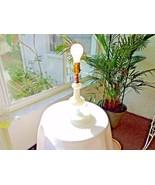 Vintage Milk Glass Beaded and Swirl Bourdoir Lamp - $19.80