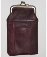 New Genuine Leather Soft Cigarette Case - DK.BURGUNDY/WINE - $18.00