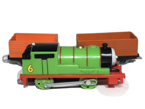 Mattel Percy 2013 Thomas & Friends Train Engine & Box Car Tested and Works! - $16.95
