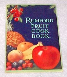 Primary image for Old Rumford Fruit Cook Book Recipes 1927 Lilly H Wallace